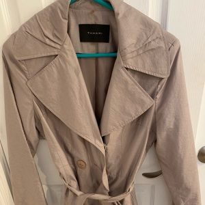 Tahari small taupe rain coat